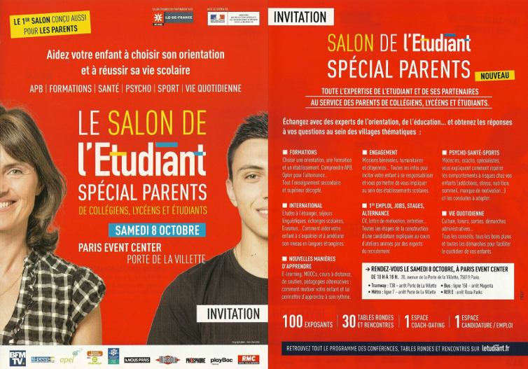 Actualit s infos 1647 for Porte de champerret salon de l etudiant